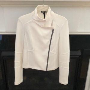 Express asymmetrical zip up jacket